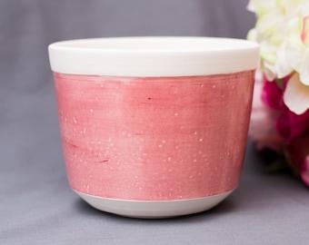 Small Pink Ceramic Flower Pot