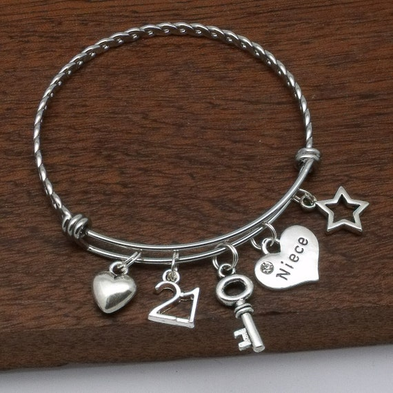 Niece 21st Bracelet Birthday Gift For