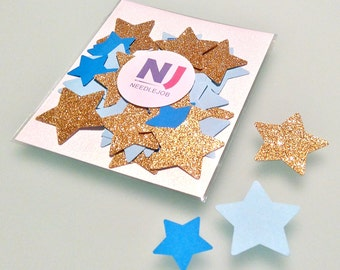 Star confetti, Blue and gold baby shower, Die cut stars, Paper stars, Paper star confetti, Boy birthday decorations