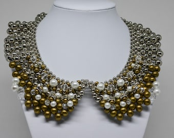 Large Multi Strand Beaded Necklace