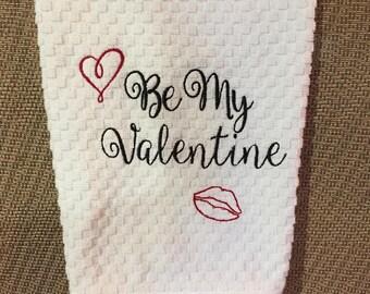 Valentine Hand Dish Kitchen Towel Valentine's Day