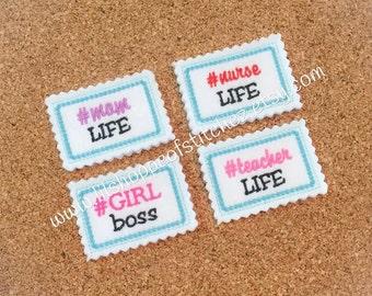 Fun Hashtag Feltie Files-Feltie Embroidery Design-Planner Accessories Felt Embroidery Design-Planner Designs Digital Embroidery File