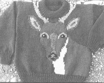 eweCanknit patterns 085-086-087: The White-Tailed Deer knitting pattern in child, youth and adult sizes