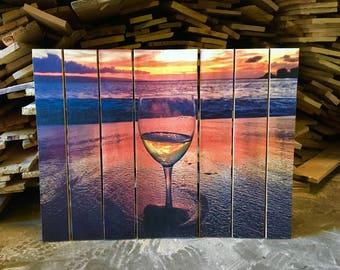 Beach Wine Photo Pallet