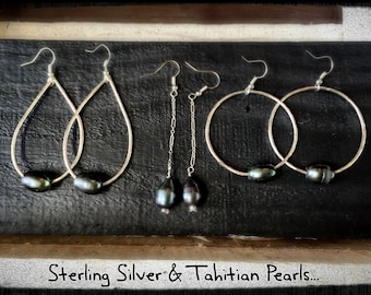 Tahitian Pearl Earrings...