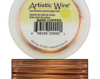 Artistic Wire Bare Copper 20ga - 15yd Spool  (WR33520)