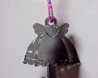 Winged Heart Umbrella Beaded Fan or Light Pull Single