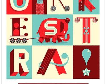 Cirkestra Silkscreen Poster