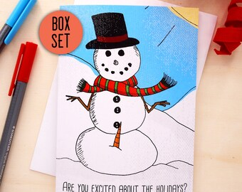 Funny Christmas Card Set Funny Holiday Card Set Family Christmas Card Christmas Greeting Card Set Boxed Christmas Cards Xmas Card Set