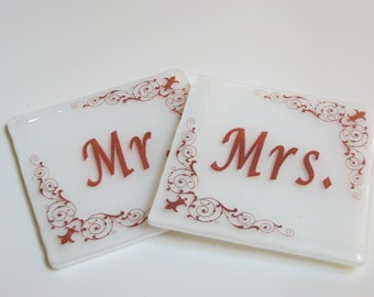 Mr & Mrs gift, Unique Wedding Gift, for marriage, for couple, anniwersary gift, bride and groom gift, Mr and Mrs gift,  spcial coasters