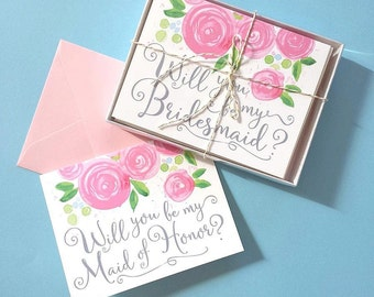 Will You Be My Bridesmaid Card Set of 8, Will You Be My Bridesmaid, Will You Be My Bridesmaid Invitation