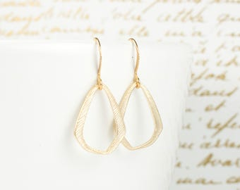 Triangle Gold Earrings, Gold Triangle Earrings, Small Drop Earrings, Gifts Under 15, Gifts For Her