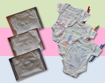 Sign my BABY GROW KEEPSAKE baby shower game / gift / maternity