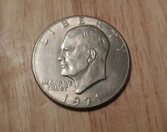 1971 Eisenhower dollar coin