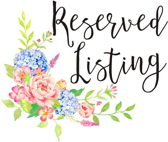 Reserved Listing for Laura Shafer