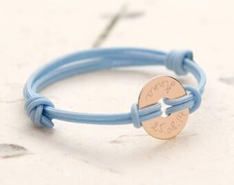 Children's Personalized Mini Open Disc Bracelet - Merci Maman Jewellery Gift for baby, friend, kids, children, birthday, friendship, birth