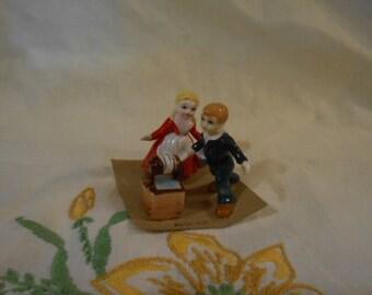 Bone China Miniature Jack and Jill With Well-Nursery Rhyme