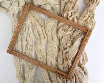 Dyeable Yarn Weavers Yarn Pack for Yarn Dyeing - Yarn for Dyeing - Undyed Yarn