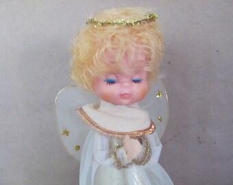 Vintage Christmas Angel, 1970's Angel Tree Topper, Figurine, Japan Angel Ornament, 1970's Retro Christmas, Holiday Decoration