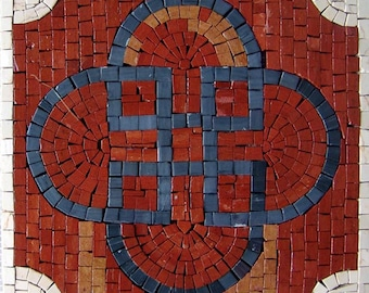 Modern Geometric Mosaic - Azur