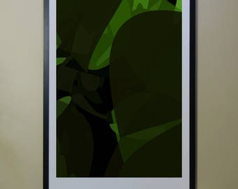 "Abstract Composition: NightTree_01_01d - Contemporary Art - Abstract Design - 26"" x 46"" and 13"" x 19"" - Limited Edition Print"