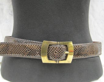 Post & Co Snakeskin belt