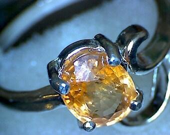 Beautiful Mandarin Garnet Ring