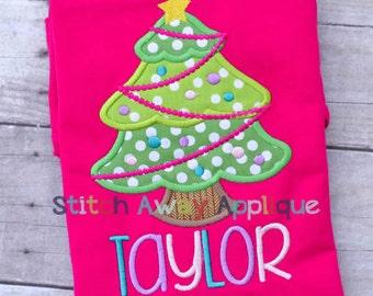 Christmas Tree Machine Applique Design