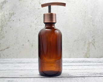 Soap Dispenser | Bathroom Decor | Bathroom Soap Dispenser | Lotion Dispenser | Copper Kitchen Decor