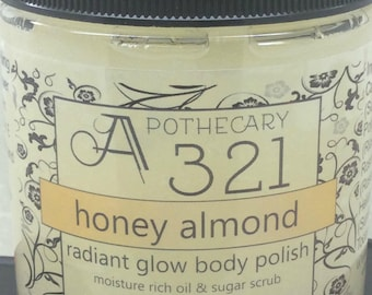 Honey Almond Radiant Glow Body Polish Moisturizing Oil Scrub