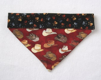 XS and S Dog Bandana – Reversible Over-the-Collar Bandana – Double Sided Bandana Scarf - Puppy Bandana Scarf - Cat Bandana - Boy Dog Bandana