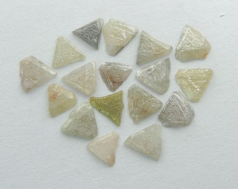 Diamond - genuine one natural triangular triangle raw rough stone specimen - real gemstone crystal conflict free  - small tiny 3 - 4 mm *N2