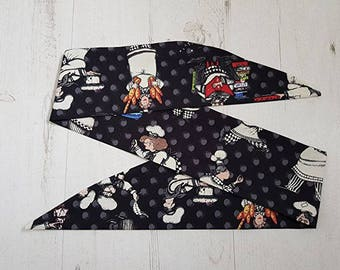 Bake Off Chef Rockabilly Head Scarf - Wired or Not - Hair Tie Wrap …