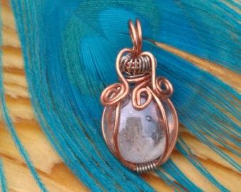 Petite glass pendant