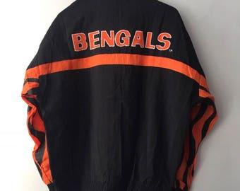 vintage cincinnati bengals apex one jacket mens size large deadstock NWT 90s