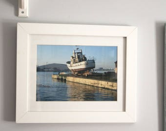 Old Liverpool boat on Birkenhead dock