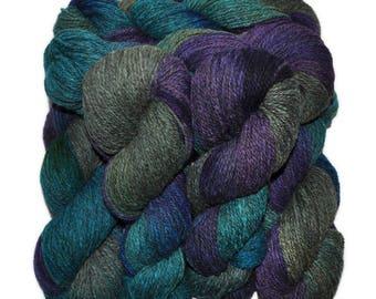 Hand dyed yarn - Alpaca / American wool yarn, Worsted weight, 240 yards - Chasca-Coyllur