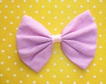 SALE Fairy Kei Large Lilac Hair Bow Clip