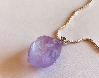 Natural Amethyst Nugget Pendant-Amethyst Pendant