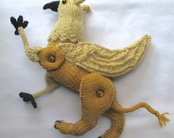 Toy Griffin – KNITTING PATTERN - pdf file by automatic download