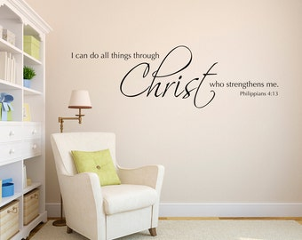 I Can Do All Things Through Christ Who Strengthens Me Decal