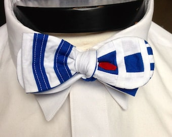 The Lucas - Our Star Wars Inspired bowtie in R2D2 Colors