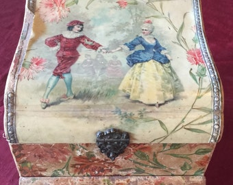 Antique Victorian Jewelry / Presentation / Celluloid Box with drawer