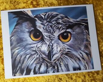 Eagle Owl A4 Print, Owl