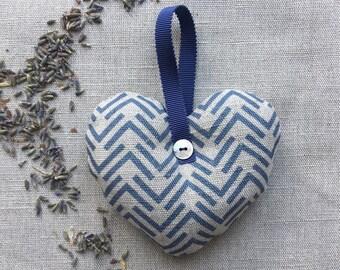 Nancy Denim Lavender Filled Heart