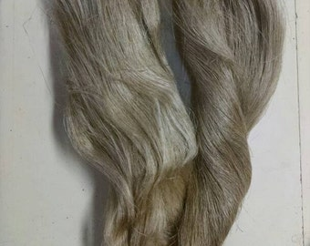 Flax Strick Spinning Fiber, Long Flax Fiber, Distaff Fiber, Hackled Linen, Line Flax, Natural Color, also used for doll hair