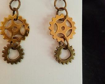 Steampunk Cog Earring's