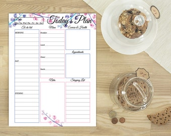Daily planner, Printable daily planner, a5 planner inserts, Daily planner printable, Personal daily planner printable