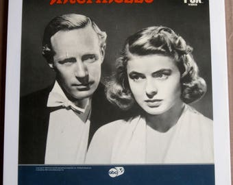 "Vintage Video Disc ""Intermezzo"" Ingrid Bergman, Gösta Ekman, Inga Tidblad, Film Noir, SALE"