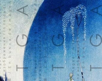 Riding The Polar Bear Kay Nielsen Illustration. East Of The Sun West Of The Moon Fairy Tales. Art Deco Digital Fairy Download.